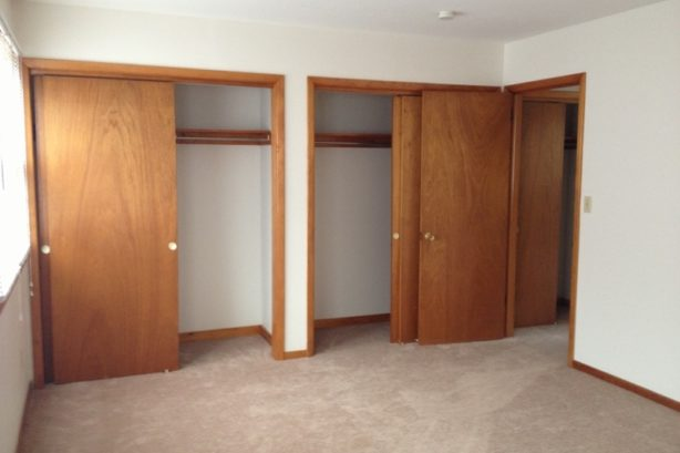Master Bedroom with Double Closets